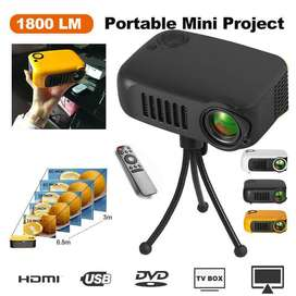 Mini Portable Projector A2000 LED Projector 320x240 Pixels Support 10