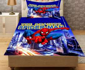 Disney charecter curtain and bed sheets
