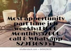 Manual hand writing Job weekly salary 12000