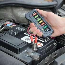 Tester aki 12 volt alat cek aki alternator mobil dengan 6 led indikasi