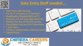 Data entry operator-boys only