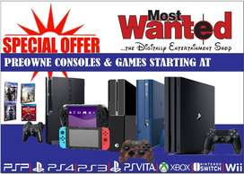 Gaming Consoles with Games on RENTAL