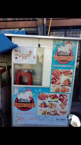Dijual gerobak bekas jual ayam crispy