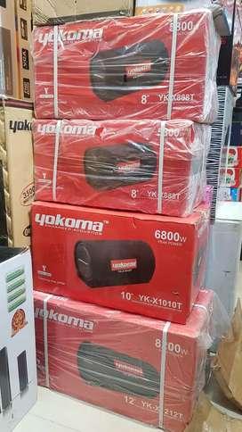 YOKOMA 8 Subwoofer Box with inbuilt Amplifier Car Audio Bass Enhancer