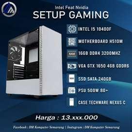 PC Gaming Editing Intel I5 10400F VGA GTX 1650 4GB SSD 240GB Ready