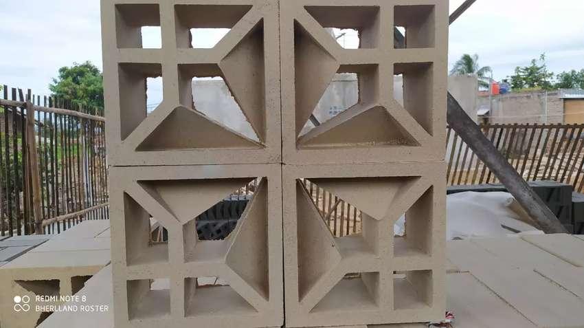 Roster, loster, beton, lubang angin, minimalis, bisacod