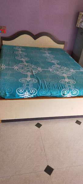 Double bed and side table