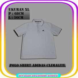 Polo Shirt Second Bekas Adidas Climalite Size XL Made In Korea Ori