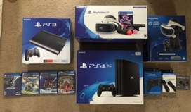 Xbox 360, Ps3, Ps4, Xbox One, Xbox One S Console available