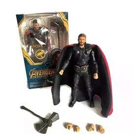 Action figure mainan Thor avenger bisa cod balikpapan