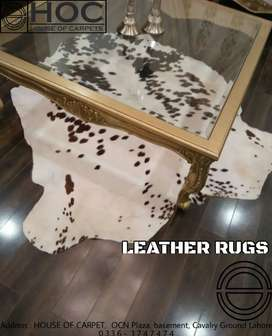 Leather rugs, cow hides