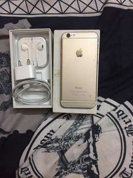 Iphone 6 64gb gold with full kit