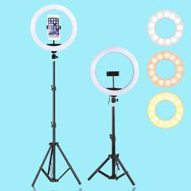 26 CM Ring Light  With 7 Feet Stand Adjustable Home Delivery Available