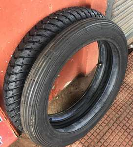 ENFIELD BULLET FRONT AND BACK TYRE WITH TUBE