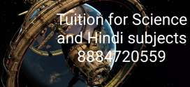 Science and Hindi Language Tuition class