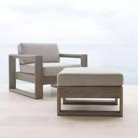 Kursi + meja, outdoor hias kolam , kayu jati 1 kursi 1 meja,freeongkir
