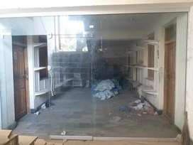 12 mm office or store front glass with two doors (size 8x6)