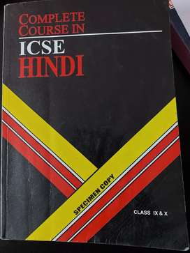 Hindi icse  complete course class 9 and 10 book for sale