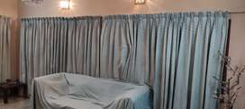 Jacquard fabric curtains in excellent condition