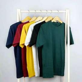 Jual Satuan/Grosir Kaos Polos Cotton Combed 30s Unisex Murah