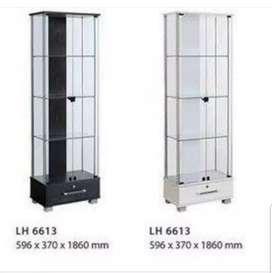lemari hias kaca 60 cm