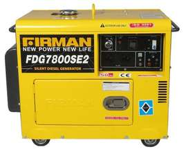 Genset BARU FIRMAN fdg 7800 se 2 max 5,5 kw silent solar garansi