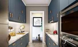 Kitchen Set Modern Minimalis, Lemari, Furniture, Partisi