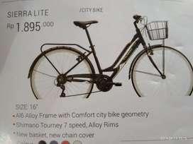 sepeda cewe sierra lite bisa kredit free dp