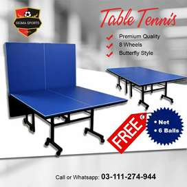 Table Tennis | Best Quality | 8 Wheels | Butterfly Style