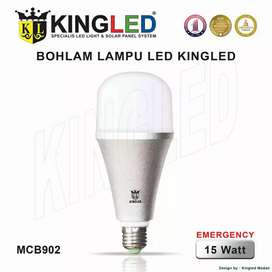 [BARU!!!] KINGLED Lampu LED EMERGENCY (AC/DC) / 15W PUTIH