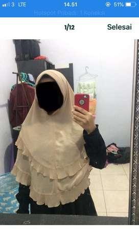 Borongan hijab jilbab khimar syari
