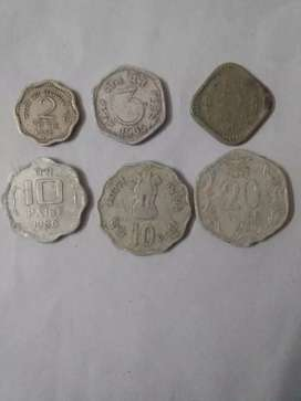 Old  indian coins of different values