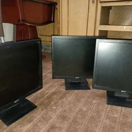 3 PC and 3 LCD