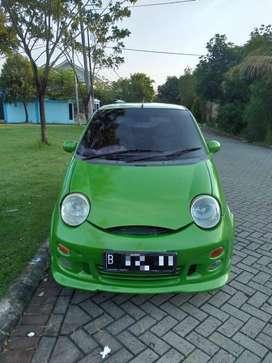 Dijual cepat !! Mobil QQ Type GX MT Hijau (warna asli putih) ISTIMEWA