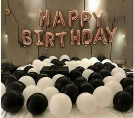 Happy birthday foil complete pakage only 350 rupy