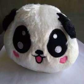 Mainan Anak Boneka Panda Kecil Lucu Imut Aksesoris