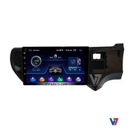 V7 Toyota Aqua 10 inch LCD Panel Android GPS Navigation System DVD CD