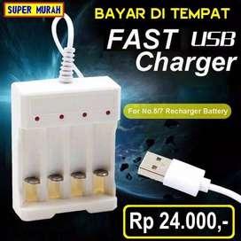 Charger Baterai Aa Adapter Carger Batre AAA Usb Isi Ulang cas
