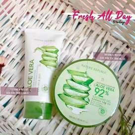 Paket Hemat - Nature Republic - Aloe Vera Gel + Cleanser Foam