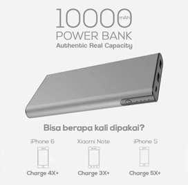 Power bank slim metalic Real 10000 mAh