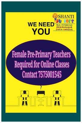 Teachers & Asst Teacher for Pre school