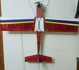 Rc balsa plane, airplane trainer with nitro engine all accesories incl