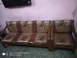 Sagwaan strong 5 seater sofa for sell