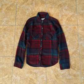 Kemeja Flanel Abrecombie and Fitch size M