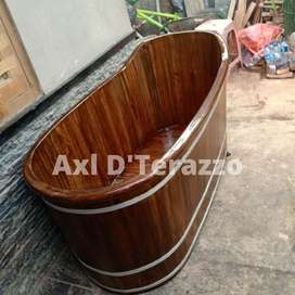 Bathtub Kayu Jati P150cm