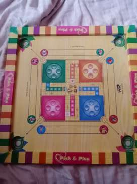 Carton wooden  4 player game have ludo and carton and snake game