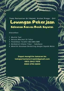 Lowongan Salesman Kanvas Benih Sayuran Klaten - Sukoharjo