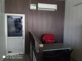 Fully Furnished with Office Table, Chairs, AirConditioner and Invertor