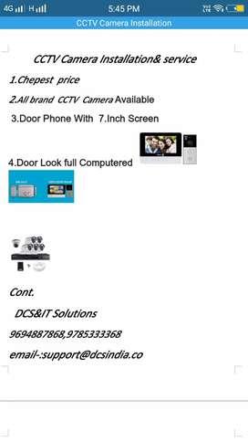 CCTV camera  seals & service  Video door bell  &door look