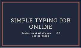 SIMPLE TYPING JOB ONLINE